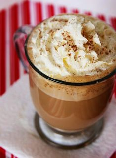 Eggnog Latte!  Look forward to trying this during the holiday season! **Made December 2011...delicious. Enough said.
