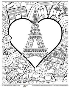 Eiffel Tower Coloring Page Tower Coloring Page Amazing Coloring Pages I Watch Eiffel Tower Paris Printable Coloring Pages Adult Coloring Book Pages, Cute Coloring Pages, Doodle Coloring, Printable Coloring Pages, Free Coloring, Coloring Sheets, Coloring Books, France Craft, Paris Illustration