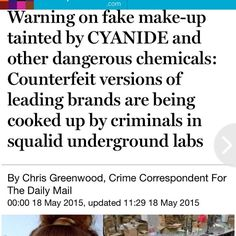 FAKE MAC & other Make up Ladies, please do not invest in fake make up. Weather it be Mac, urban decay, ect. It's dangerous and not worth it. They are made in unsanitary factories in China and more. People have gotten infections and it's just not fun. Please be carful and know how to spot the difference. Report anyone who is selling fake make up!!! MAC Cosmetics Makeup Lipstick