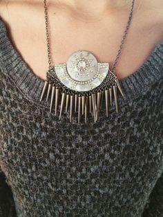 Galaxy Quest Necklace #swarovski #crystal #vintage