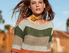 Captivating Crochet a Bodycon Dress Top Ideas. Dazzling Crochet a Bodycon Dress Top Ideas. Crochet Blouse, Crochet Poncho, Knit Crochet, Hairpin Lace Crochet, How To Wear Leggings, Easy Knitting, Crochet Fashion, Striped Knit, Crochet Clothes