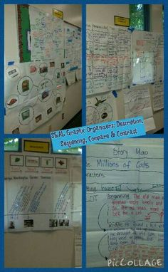 SEAL Graphic Organizers: Description,  Sequencing, Compare & Contrast