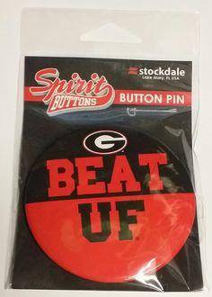"NCAA Georgia Bulldogs Stockdale 3"""" Beat UF Spirit Button"