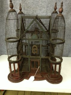 Hand crafted birdcage. $120.00, via Etsy.