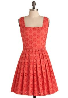 another red eyelet dress