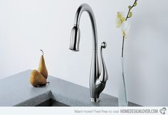 Kitchen Faucets Ideas 15 Beautiful and Unique Kitchen Faucets - Faucets in some places are actually known as a tap. Water for baths, sinks, basins or lavatories can be provided with separate hot and cold taps or House Design, Kitchen And Bath, Modern Kitchen, Kitchen Collection, Kitchen, Modern Kitchen Faucet, Kitchen Faucet Design, Kitchen Renovation, Sink