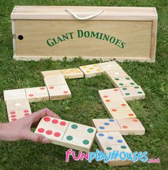 Easy DIY project for fun game in the yard by the garden.  Ooooo! That's what I could do with all those bits of wood in the basement! :-)