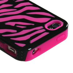 Hot pink zebra case