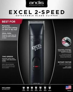 Andis Excel 2-Speed Professional Detachable Blade Hair Clipper #22315