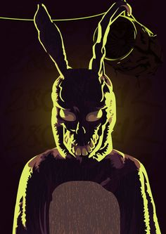 Frank - Donnie Darko on Behance Scary Movies, Good Movies, Donnie Darko Tattoo, Donnie Darko Frank, Hipsters, Katharine Ross, Acid Art, Horror Artwork, Movies And Series