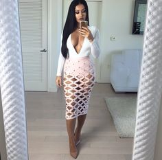 House of cb top and skirt Pinterest: @JENNY