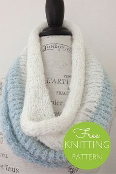 Duo Cowl Free Knitting Pattern