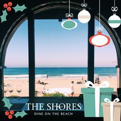 Set your Holiday Event against the backdrop of ocean views in a dining venue steps from the sand! #holidayparties at #TheShoresRestaurant