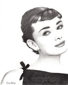 old movie stars photos | Old Hollywood, Movie, Star, Audrey Hepburn, Celebrity Drawing, Pencil ...