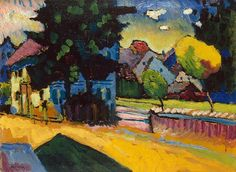 Shop for Wassily Kandinsky 'View of Murnau' Oil on Canvas Art. Get free delivery On EVERYTHING* Overstock - Your Online Art Gallery Store! Wassily Kandinsky, Abstract Landscape, Landscape Paintings, Summer Landscape, Oil Paintings, Art On Wall, Oil On Canvas, Canvas Art, Oil Painting Reproductions