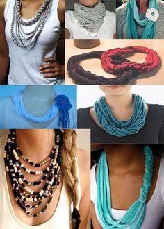 Fazer colares com tecido
