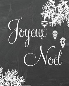 Joyeux Noel - Free Christmas Printable/French bread board - So Much Better With Age French Christmas, Noel Christmas, Christmas Signs, All Things Christmas, Vintage Christmas, Christmas Crafts, Christmas Decorations, Christmas Windows, Christmas Quotes