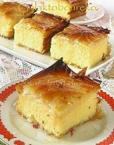 » Galaktoboureko / Placinta greceascaCulorile din Farfurie Romanian Desserts, Romanian Food, Filo Recipe, Cookie Recipes, Dessert Recipes, Bread Cake, Dessert Drinks, Eat Dessert First, Turkish Recipes