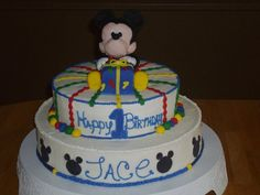 Mickey Mouse Tier Bday Cake