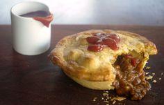 Curry Beef Pies - a Julie Goodwin recipe Aussie Pie, Australian Meat Pie, Aussie Food, Australian Recipes, Beef Pies, Mince Pies, Pot Pies, Curry Pie Recipe, Minced Beef Pie