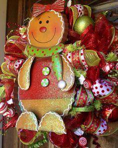 Gingerbread wreath by Sassy Cajun  http://m.facebook.com/Molly.Maung