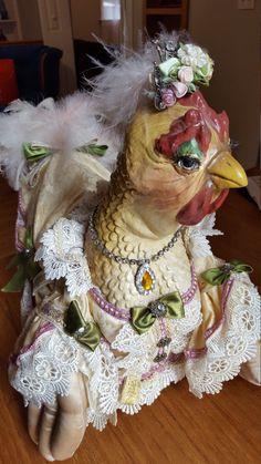 WAYNE KLESKI  Chicken / Rooster Victorian Doll by TheYahdSale