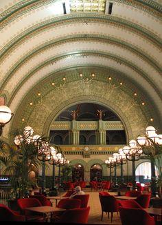 Image result for BARREL vaulted ceiling lighting GRAND HALL