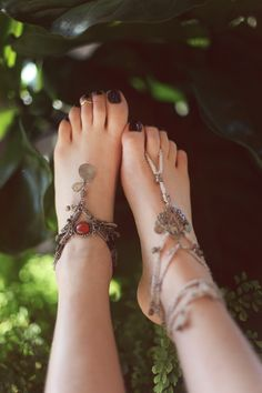 It's Barefoot Season, Adorn Those Feet | Free People Blog - just imagine, goths without boots! *shocker*