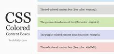 Add CSS Colored Content Boxes to website or blog posts