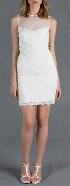 Harlow White Lace Dress - I'd love to have one in black.
