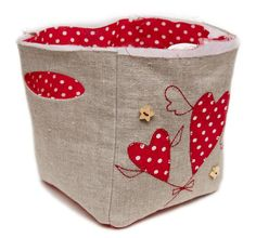 Fabric Storage Basket with Handles DIY Tutorial