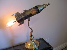 Reserved for Nancy Victorian Rocket Lamp by woskab on Etsy, $300.00