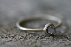 Freeform Lilac Sapphire & Sterling Ring by leChienNoirJewelry, $80.00