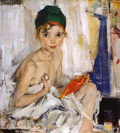 Nicolai Fechin - Portrait of my Daughter (Russian: Russian American, Russian Art, Figure Painting, Painting & Drawing, Nicolai Fechin, 26 November, Soviet Art, John Singer Sargent, Oil Portrait