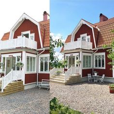 Trappa, veranda House Siding, Swedish House, House Extensions, Cozy Cottage, Scandinavian Home, My Dream Home, Curb Appeal, Outdoor Spaces, Interior And Exterior