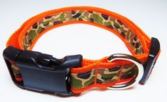 X-Large Orange Camo Dog Collar by WildThingzPetGear on Etsy