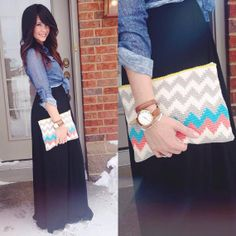 Chevron Crochet Clutch by OikosHandmade on Etsy, $55.00
