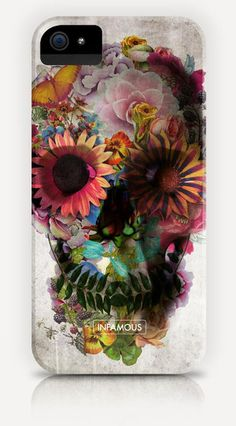 """iPhone Case """"Gardening Skull"""" www.infamouscases.com"""