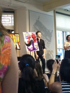 CHRIS AT BN FOR HIS BOOK SINGING!!