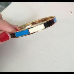 Bracelet Light blue white black gold bracelet new J. Crew Jewelry Bracelets