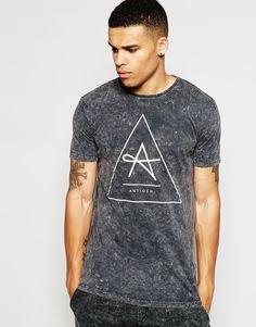 Image 1 ofAntioch Longline T-Shirt In Acid Wash