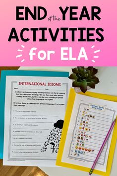 Looking for a great way to keep your kids engaged and excited as the year ends? Check out these ready-to-use activities for fun review and enrichment. #endoftheyear #endoftheyearela #5thgrade #6thgrade #7thgrade Middle School Ela, Middle School English, End Of School Year, Classroom Management Strategies, Classroom Resources, Thank You Letter Template, Summer Words, 8th Grade Ela, Creative Writing Prompts