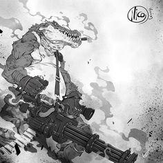 The Art of Animation: Nicola Saviori Character Concept, Character Art, Concept Art, Comic Kunst, Comic Art, Krokodil Tattoo, Character Illustration, Illustration Art, Comics Anime