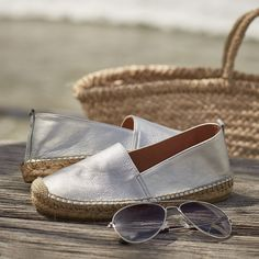 Metallic Leather Espadrilles | The White Company