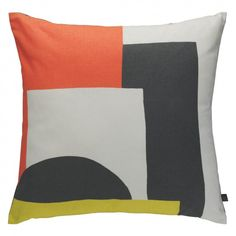 MIRO Neutral multi-coloured patterned cushion 45 x 45cm