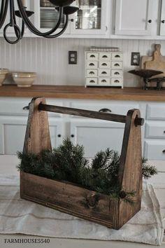 Set of 3 Vintage Inspired Wood Tool Box