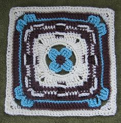 "Ravelry: Field Day 9"" and 12"" Afghan Block pattern by Margaret MacInnis ~ free pattern"