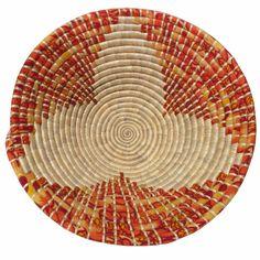 Straw and kanga basket.  A fair trade product from Tanzania.  $44.99