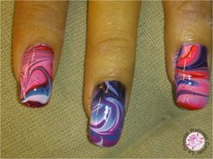 water marble nail art nailart nail-art nagel manicure utrecht Water Marble Nail Art, Utrecht, Nailart, Manicure, Beauty, Nail Bar, Nails, Polish, Manicures