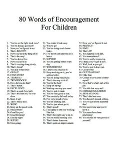 80 words of encouragement